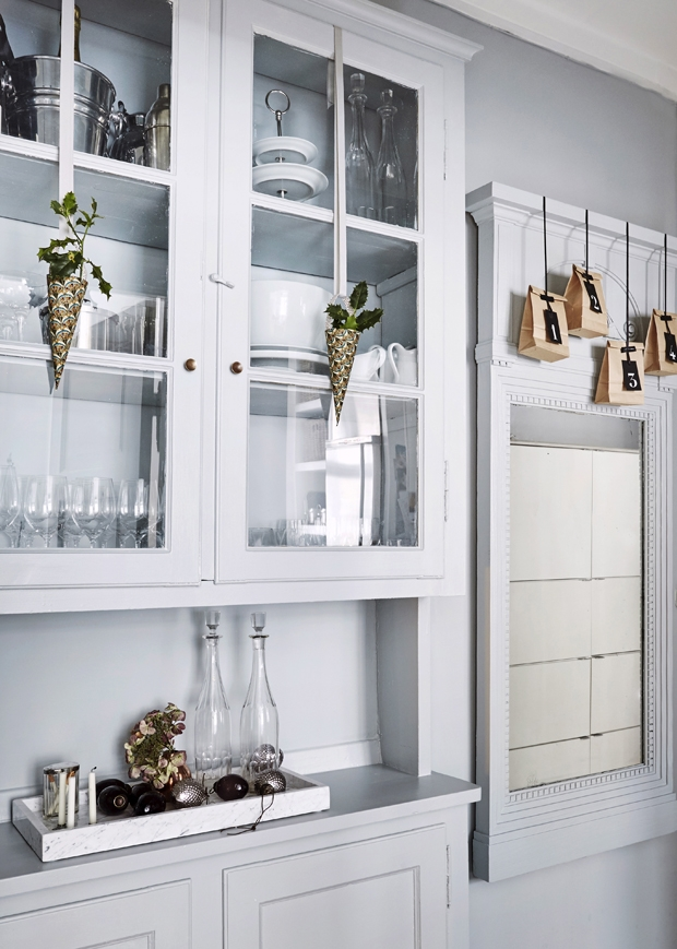 toned down christmas kitchen