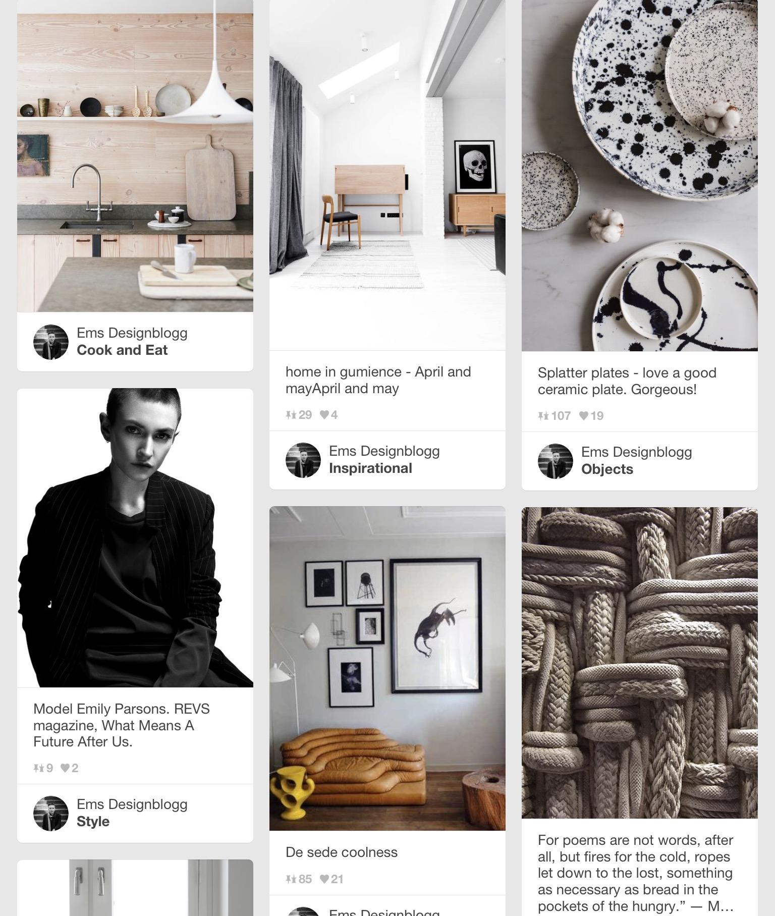 Ems Designblogg Pinterest moodboard