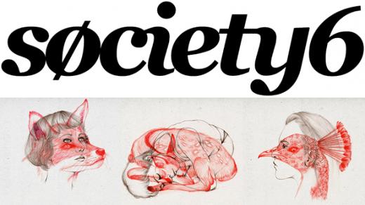 Prints från Society6.com