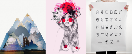 Afficher från Up Your Wall, Arte Limited och Arty People