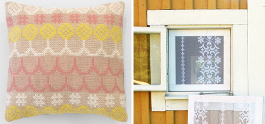 Pillow by Karen Barbé and mosquito nets by Designmadde