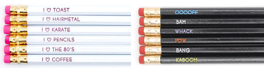 Pencil sets from One Up Design.