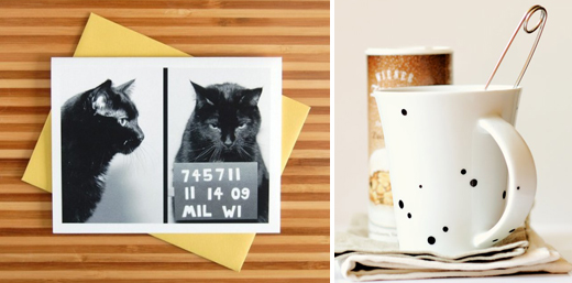 Mug shot-kort med katt och enklaste sättet att måla på porslin