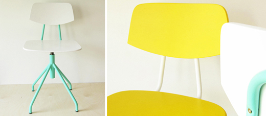 Painted chairs by Bambula
