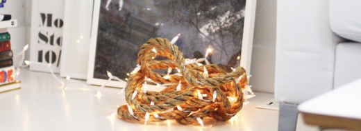 DIY Rope light by A Merry Mishap