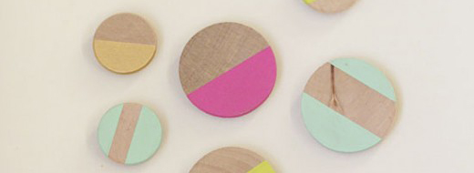DIY Neon and wood magnets by Swoon!