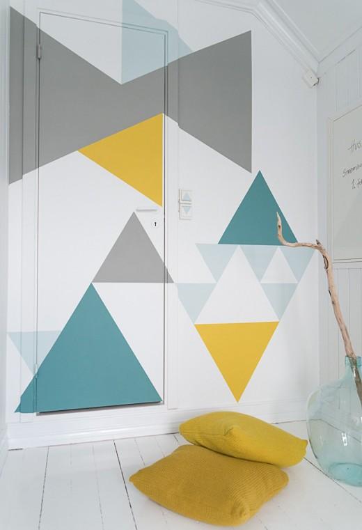 DIY Geometric wall painting