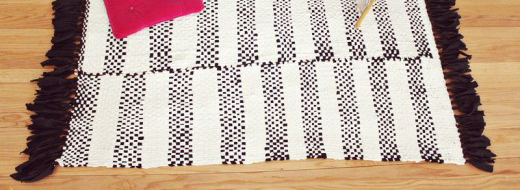 DIY hand woven rug by A Beautiful Mess