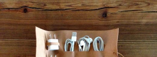 Cordito cord wrap that holds 3 cables and 2 plugs