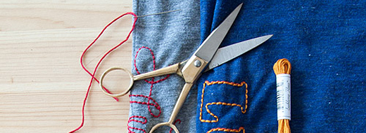 Embroidery via Design Sponge