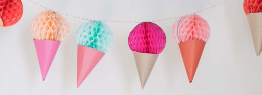 Ice Cream Cone Garland DIY by Oh Happy Day