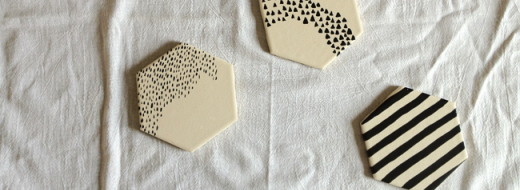 DIY painted tile coasters by A Daily Something