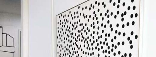 DIY polka dot art (original by Alexander Liberman), photo by Sheila Metzner for Vouge
