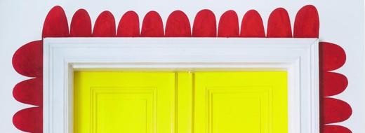 DIY bright painting around door, by Cilla Ramnek