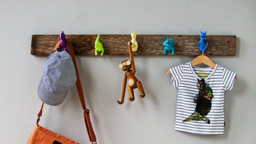 DIY Dinosaur coatrack via Real Living
