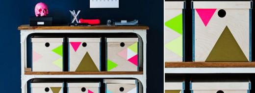 DIY colorful storage, Ikea hack via Real Living