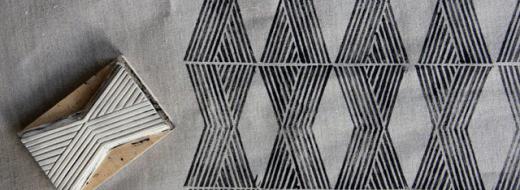 Block print fabric, by Ariele Alasko