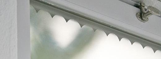 DIY scallop privacy film for windows, by Benita Larsson/Chez Larsson