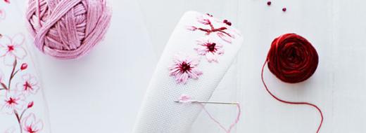 DIY Embroidered Headphones by Lova Blåvarg