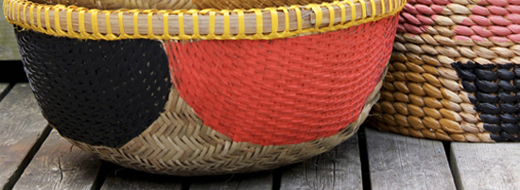 Painted baskets by The Marion House Book