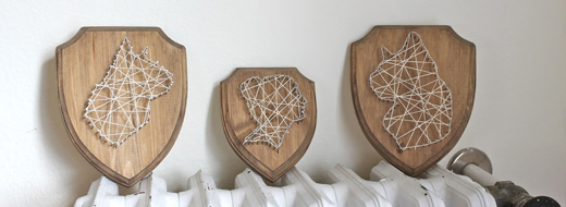 DIY string art portraits, by Ladyface Blog