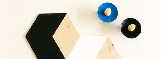 DIY Hexagonal trivets, by The Felted Fox