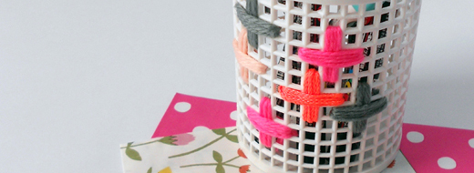 DIY embroidered storage, by The Red Thread
