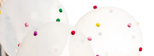 DIY Pom-Pom Balloons, by Design Improvised