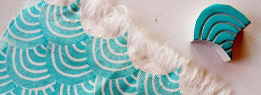DIY Fabric Stamping, by Rianne van der Waals