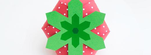 DIY strawberry treat box, by Mini-eco for Oh Happy Day