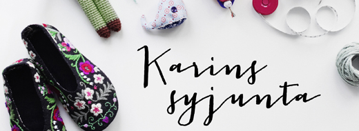 """""""Karins syjunta"""", författare Karin Holmberg, fotograf Anna Kern"""