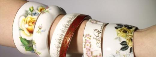 Porcelain bracelets by Abigail Clark