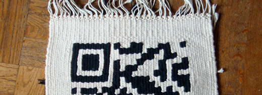 Woven rug with code, via Nikolaus Gradwohl