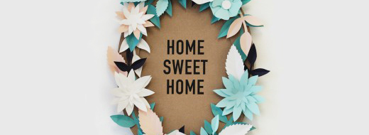 DIY Paper Flower Wreath – Home Sweet Home