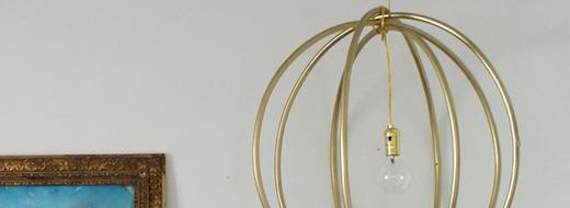 99cent Hula Hoop DIY hanging light
