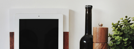 DIY Modern colour block iPad Stand, via The Artful Desperado