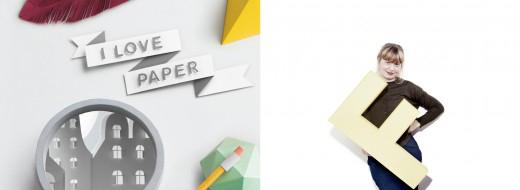 """The book """"I love paper"""" by Fideli Sundqvist"""