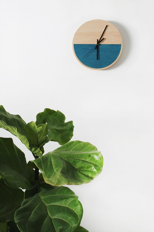 DIY color block clock, by Almost Makes Perfect