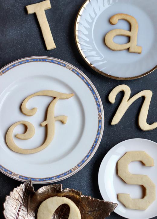 DIY Typography Cookies, by Jenny Batt of Hank and Hunt