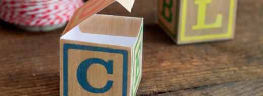DIY alphabet block boxes from The Elli Blog