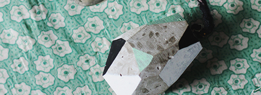 DIY Cement Faceted Key Chain, from Say Yes