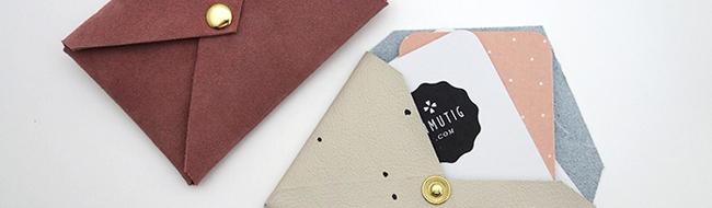 DIY leather envelope purses, by Anmutig