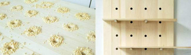DIY Pegboard Shelving System, Apartment Therapy Tutorial