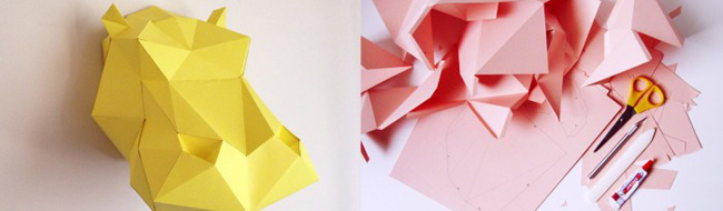 Paper Hippo Templates from AssembliShop