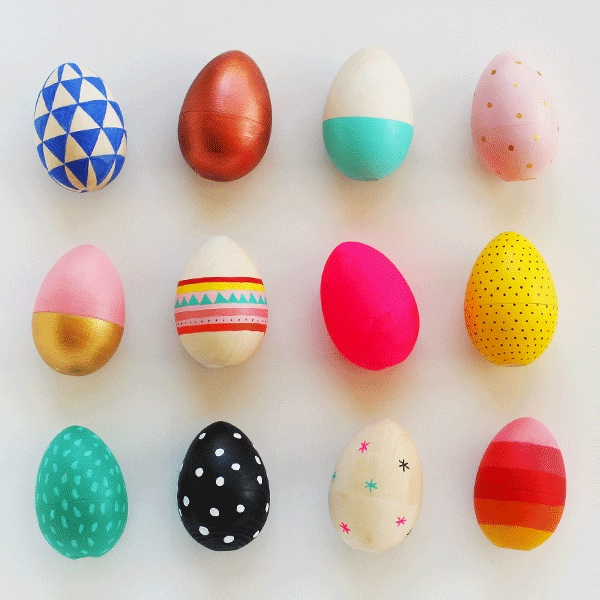 How to Paint Wooden Easter Eggs, from My Poppet