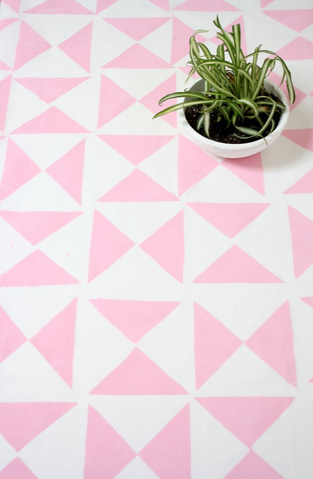 How to Make A Geometric Tablecloth or Backdrop