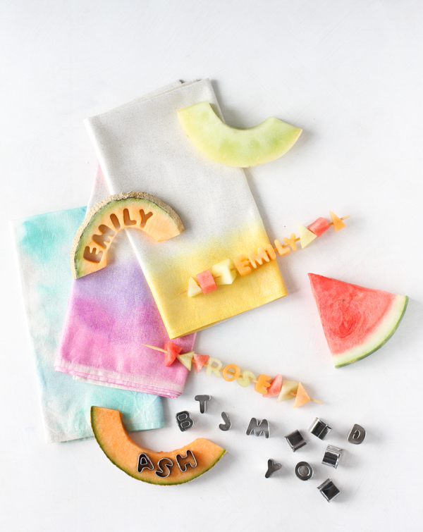 Edible Fruit Kabob Place Cards