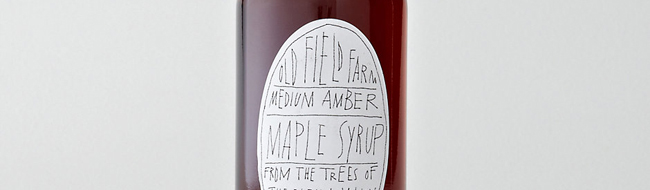Maple syrup, by Old Field Farm