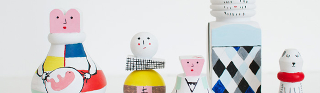 A Wooden doll Family Portrait