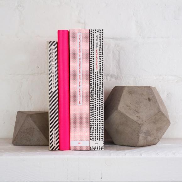 Concrete book ends